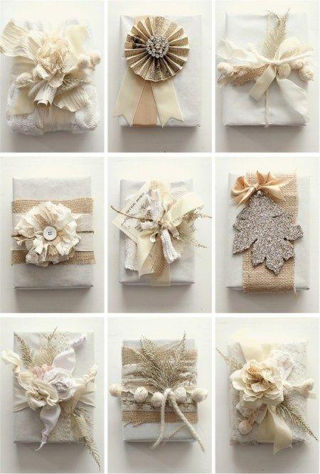 Christmas gift wrapping ideas, gorgeous!