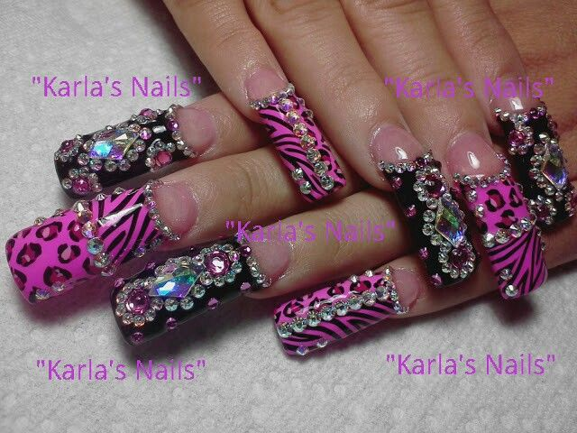 Wwwinstagramcom Karlasnails Long Nails Unas Estilo