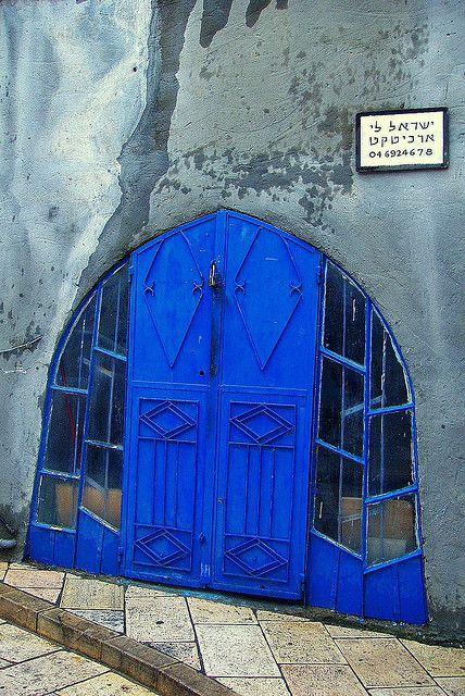 Safed blue door  Israel