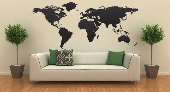 Wall decal world map by alabamadc on etsy mac book pinterest wall decal world map by alabamadc on etsy gumiabroncs Gallery