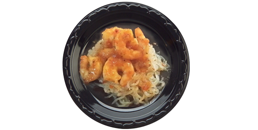 Sweet Chili Shrimp Over Miracle Noodles