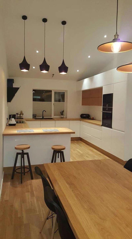 Inspiracja fb, drewno, biel #DécorationIntérieureDesign - #DekorTasarımlarıveMalzemeleri #wohnungküche