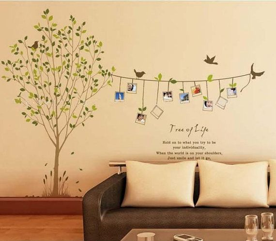 Removable Vinyl Family Photo Tree Wall Decal by CustomWallDecal ...