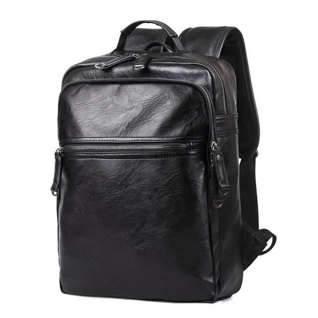 8016d220e3 2017 Men Leather High Quality Backpack