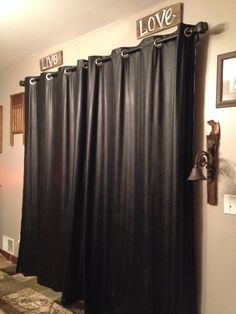 Invest In Some Real Black Leather Curtains Whats More Mix Different Types Of Together Such As Soft With Embossed Pieces To Keep The