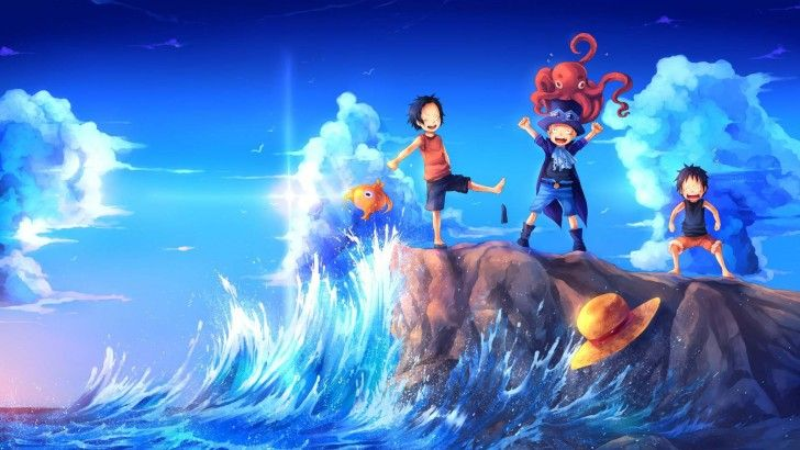 Sabo Luffy Ace Hd Wallpaper One Piece Art 1920 1080 Hinh 缣nh One Piece Anime