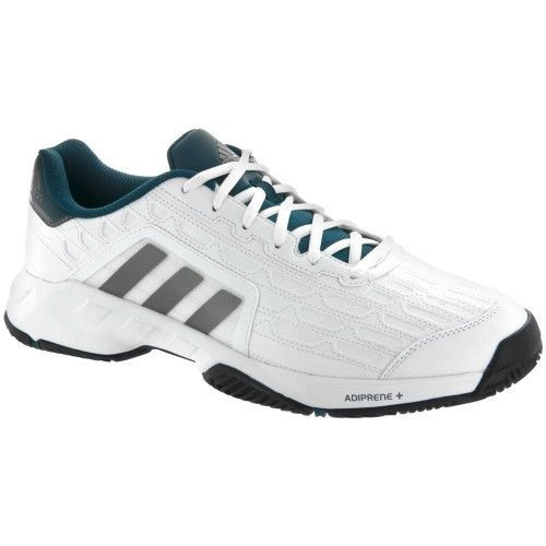 Mens Adidas Barricade Court 2 White Tennis Court Sport Shoes AF6781 9-13  Wide