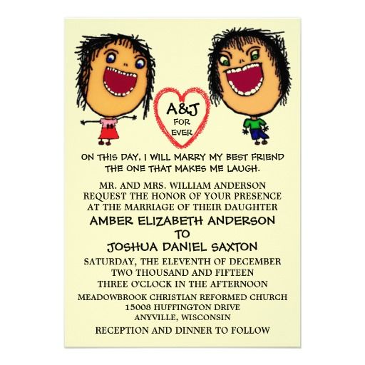 Funny Cartoon Marrying My Best Friend Wedding Invitation Funny and - best of invitation text for marriage