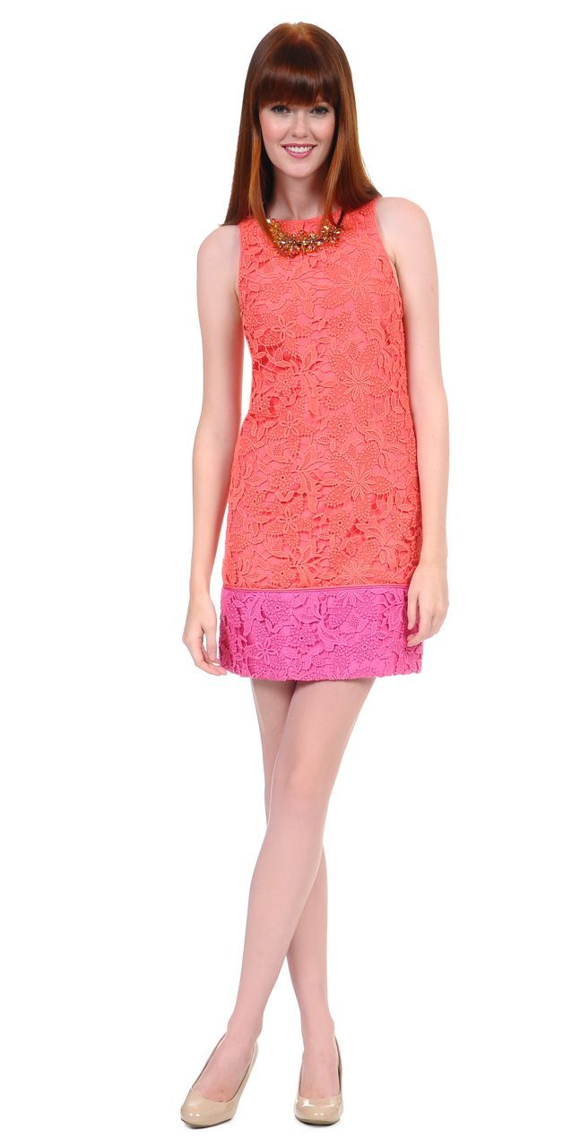 Lace Colorblock Dress, Phoebe Couture. | Brains of the Outfit ...