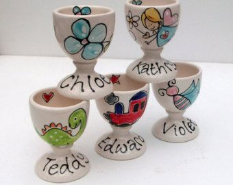 Image result for easter egg cup personalised easter craft ideas buy hand painted and personalised egg cup easter gift by purple glaze pottery at wowthankyou negle Choice Image
