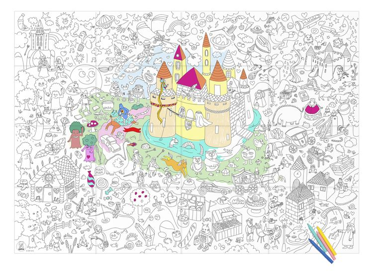 OMY-GIANT-COLORING-POSTERS-MAGIC-FULL.jpg | Baby\'s Room | Pinterest