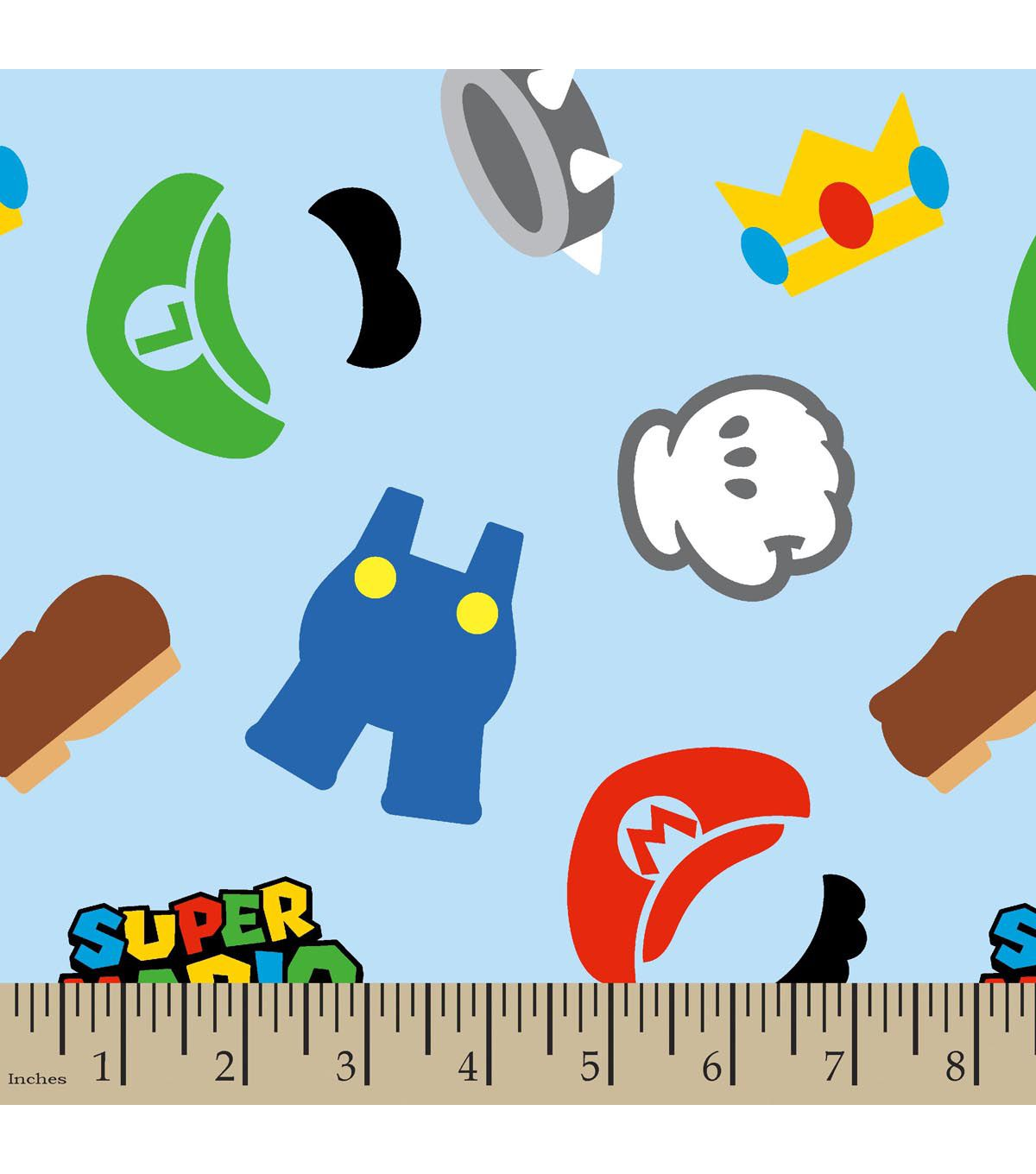 Nintendo super mario brothers clothes icons flannel fabric