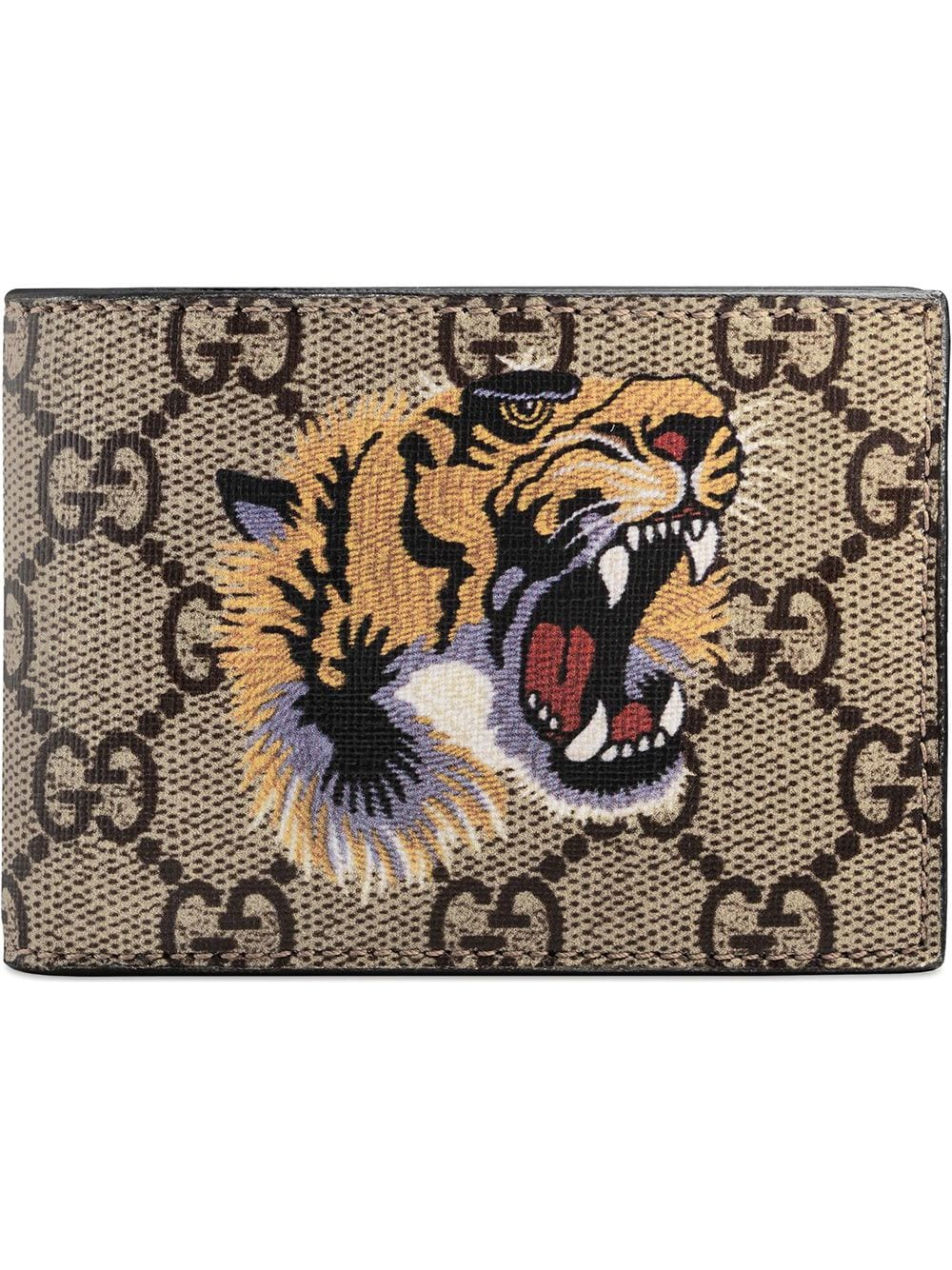 Tiger Printed Gg Supreme Classic Wallet In 8666 Eb/mul
