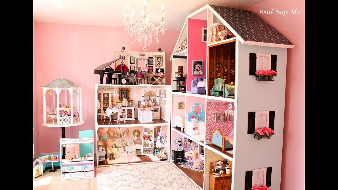 Huge American Girl Doll House Tour New 2018 American Doll House American Girl Doll Room American Girl Doll House