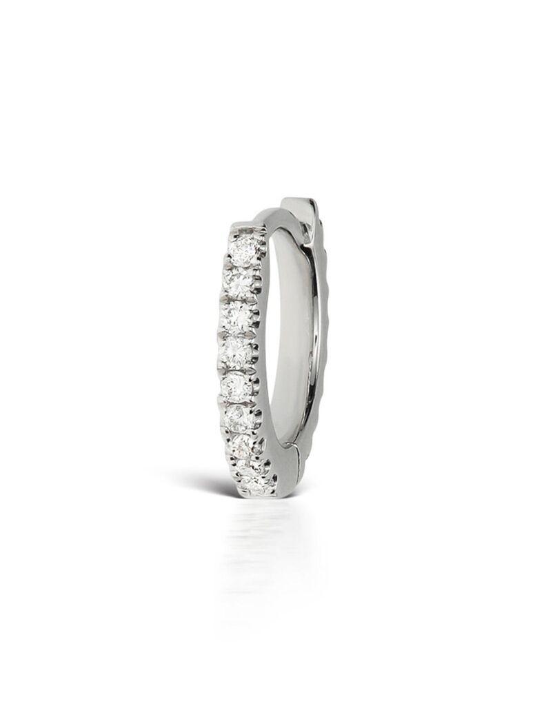Invisible Eternity 18-karat White Gold Diamond Earring - one size Maria Tash GGykf1v