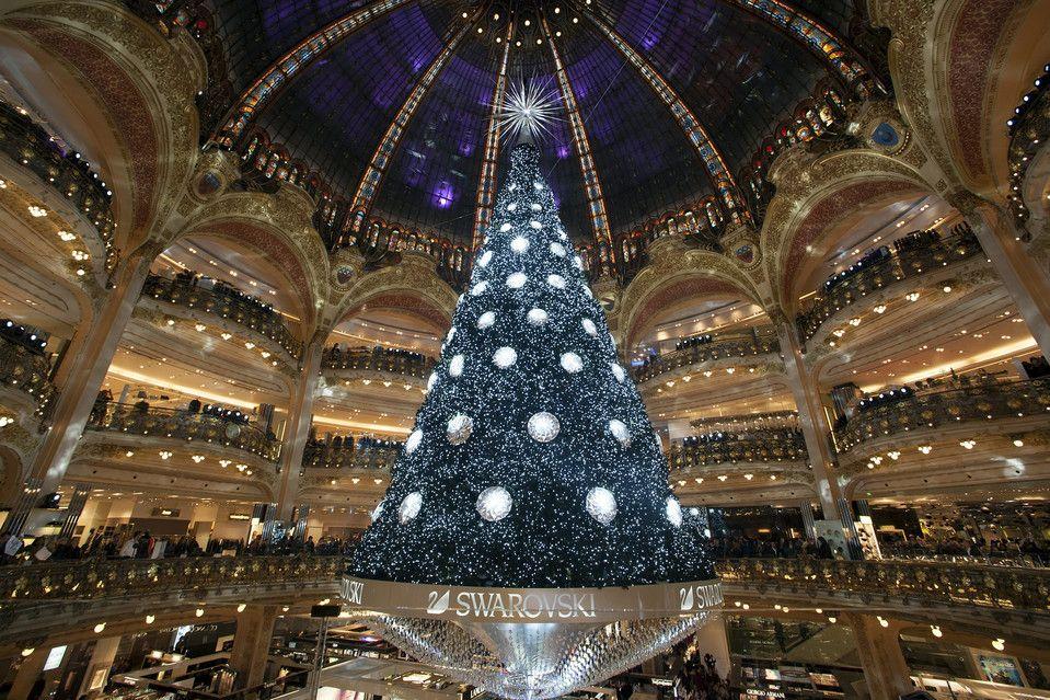 Galeries Lafayette Paris Beautiful Christmas Trees Swarovski Christmas Tree Christmas In Paris
