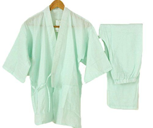 Soojun Womens Cute Japanese Style Top and Bottom Gown Cotton Pajamas ...