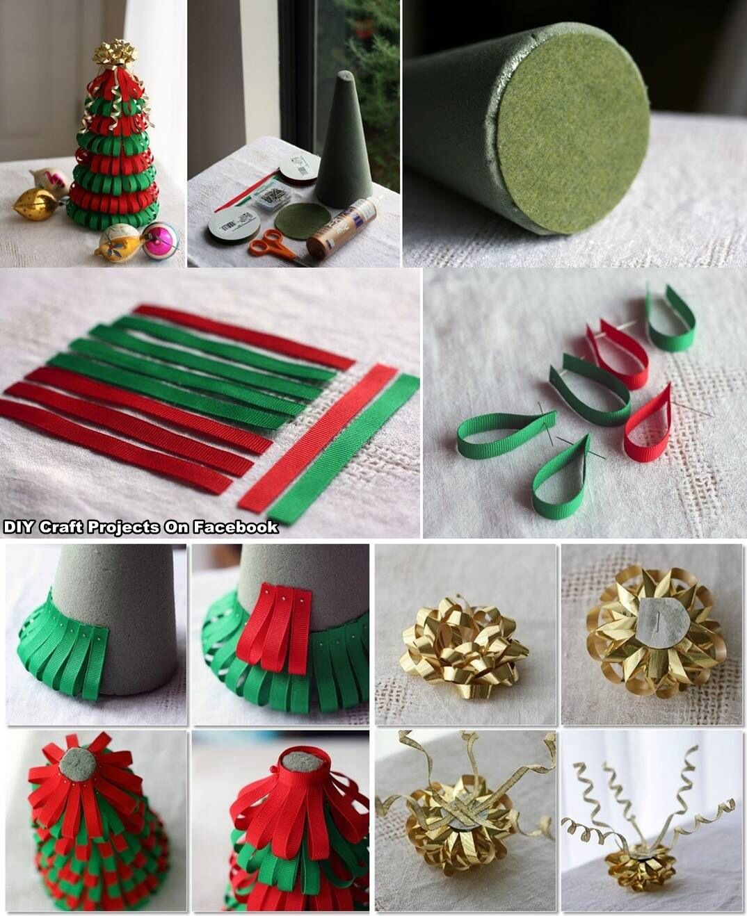 Diy ribbon and bow christmas tree holidays special for Using ribbon on christmas tree