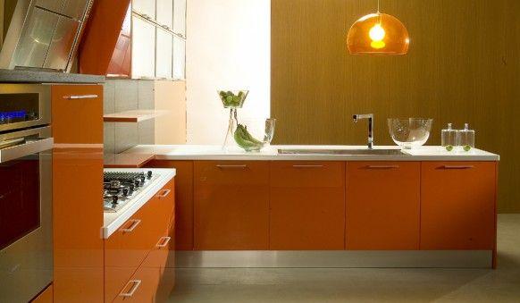 Orange Kitchens | Orange kitchen, Kitchens and Kitchen design