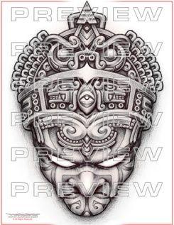 b2143c510 Pin by warvox tattoos on Tattoo Designs | Aztec tattoo designs, Mayan  tattoos, Hawaiian tattoo