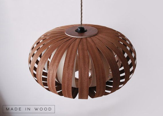 Ceiling light pendant lamp mahogany baltic birch wood veneer mahogany and baltic birch wood veneer lamp pendent lampshade lighting patio light hanging light mozeypictures Gallery