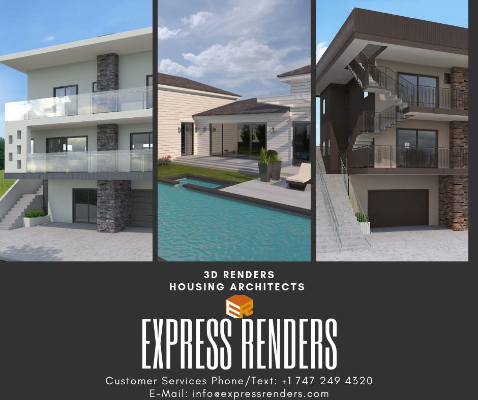 3d Renders In Usa California Architecture Architecture Plan Construction Drawings