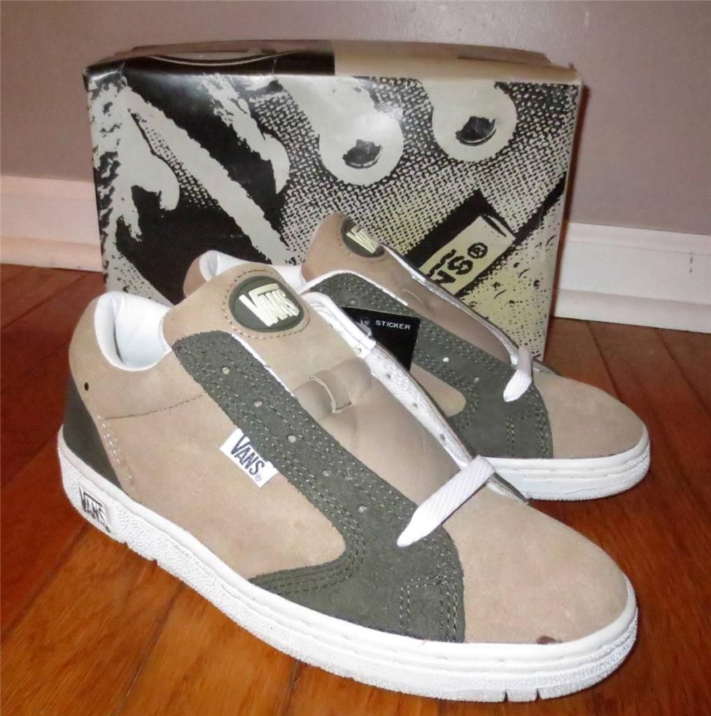 Men S Vintage 1990 S Vans Hemi Brown Green Suede Skate Shoes Size 8 New Ebay Suede Skate Shoes Skate Shoes Shoes