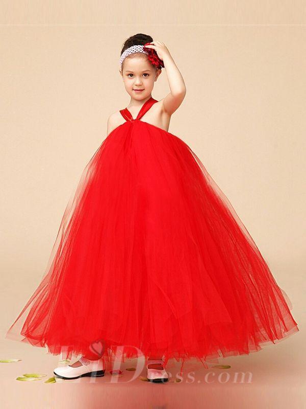 fab7752d70b2 Little Girl Strapless TuTu skirt Red Summer Gauze Dress