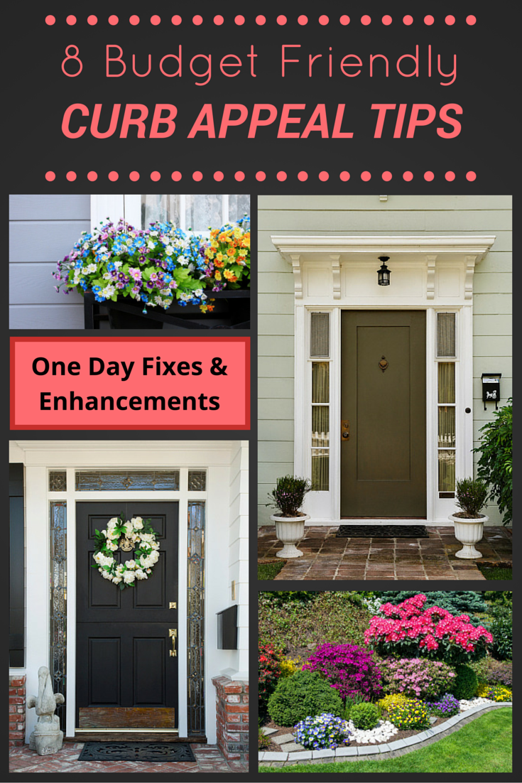 These 8 budget friendly curb appeal ideas can be done in a
