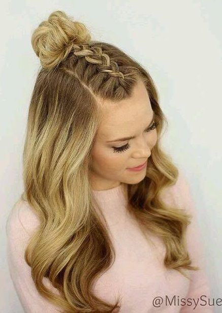 How to Style Wavy Hair For Great Control | Dance hairstyles, Top knot hairstyles, Medium hair styles