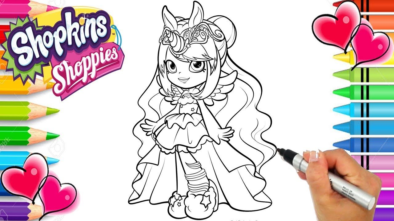 Shopkins Shoppies Wild Style Mystabella Coloring Page ...