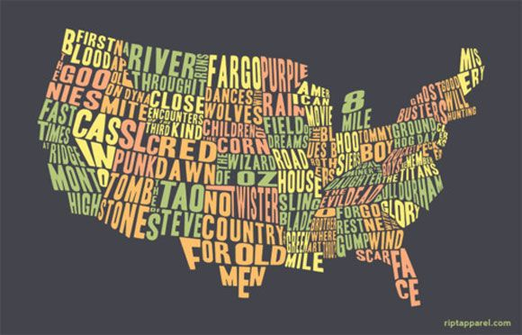 US states by movie