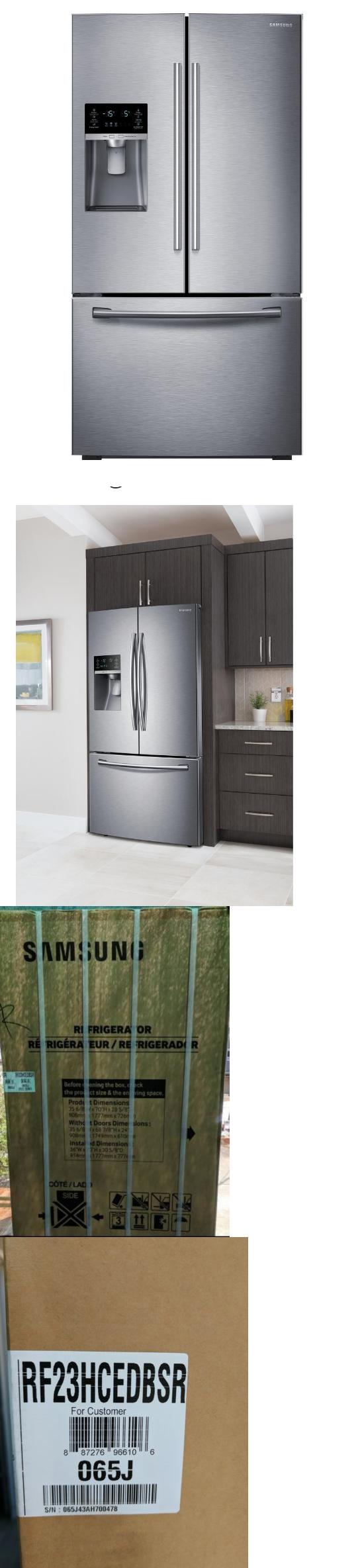 samsung rf23hcedbsr 225 cu ft french door s steel counter depth