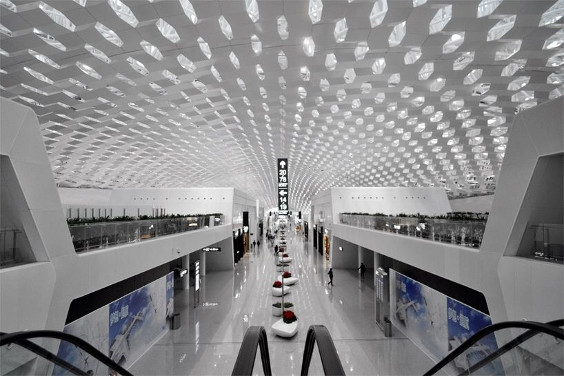 Architecture Modern At Minority Report International Airport Airport Design Bao An