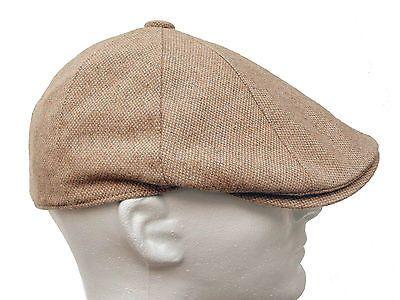 Thick tweed 8 Panel apple jack Cabbie driving Gatsby Newsboy Ivy Cap Hat