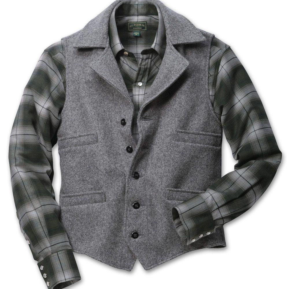 Mackinaw Wool Western Vest Western Vest Filson Vest Vest [ 1000 x 1000 Pixel ]