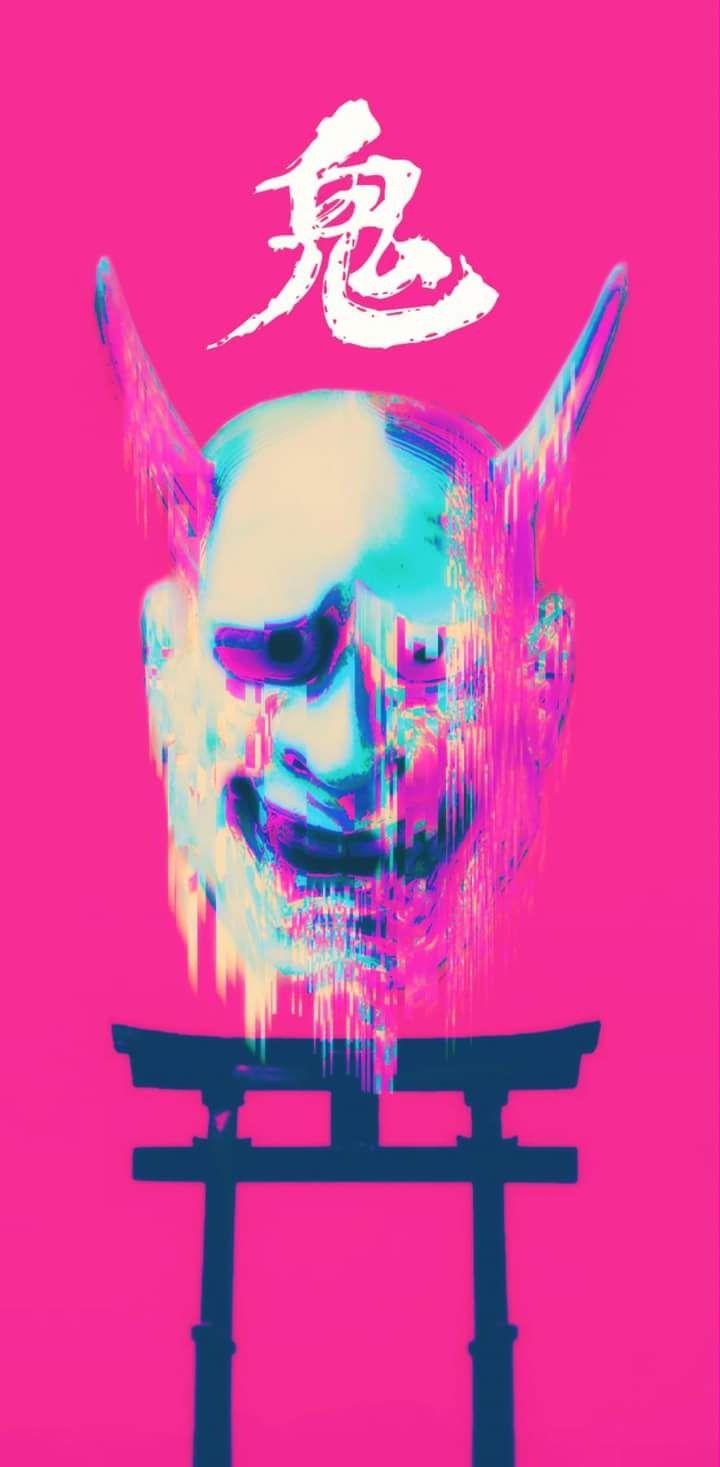 the deity O N I Vaporwave wallpaper, Vaporwave art