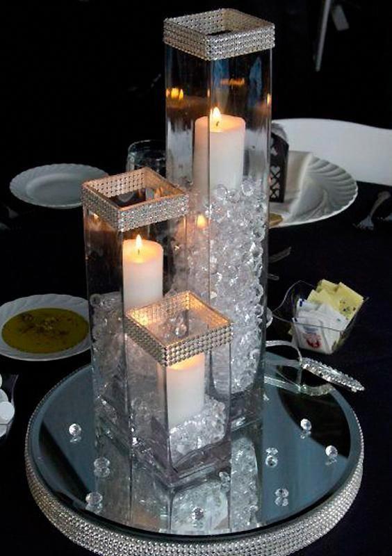 Efavormart Square Tall Glass Centerpiece Flower Vase for Wedding Party Banquet Events Centerpiece Decoration 6pcs/set - Walmart.com
