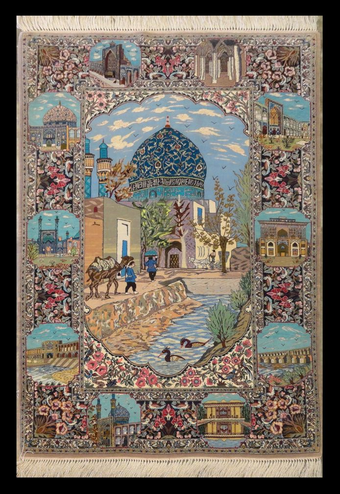 Woodlands Oriental Rug Gallery Persian Esfahan Pictorial 5