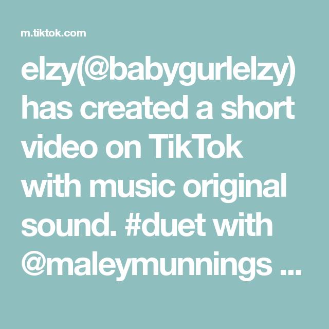 Elzy Babygurlelzy Has Created A Short Video On Tiktok With Music Original Sound Duet With Maleymunnings Omg My Ey Elevator Music The Originals Greenscreen