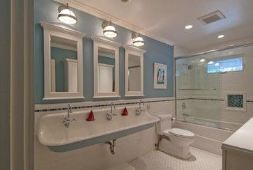Perfect For 3 Kids From Houzz Children S Bathroom Traditional Bathroom San Francisco Design Kids Bathroom Design Traditional Bathroom Bathroom Kids