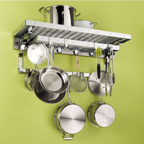 The 36 inch Gourmet Pot Rack Set by pegRAIL hangs your pots, pans ...