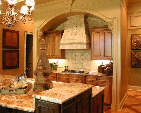Extravagant Model Home With Bold Classic Interior : Gorgeous Kitchen Design  Tile Backsplash Labrador Model Home