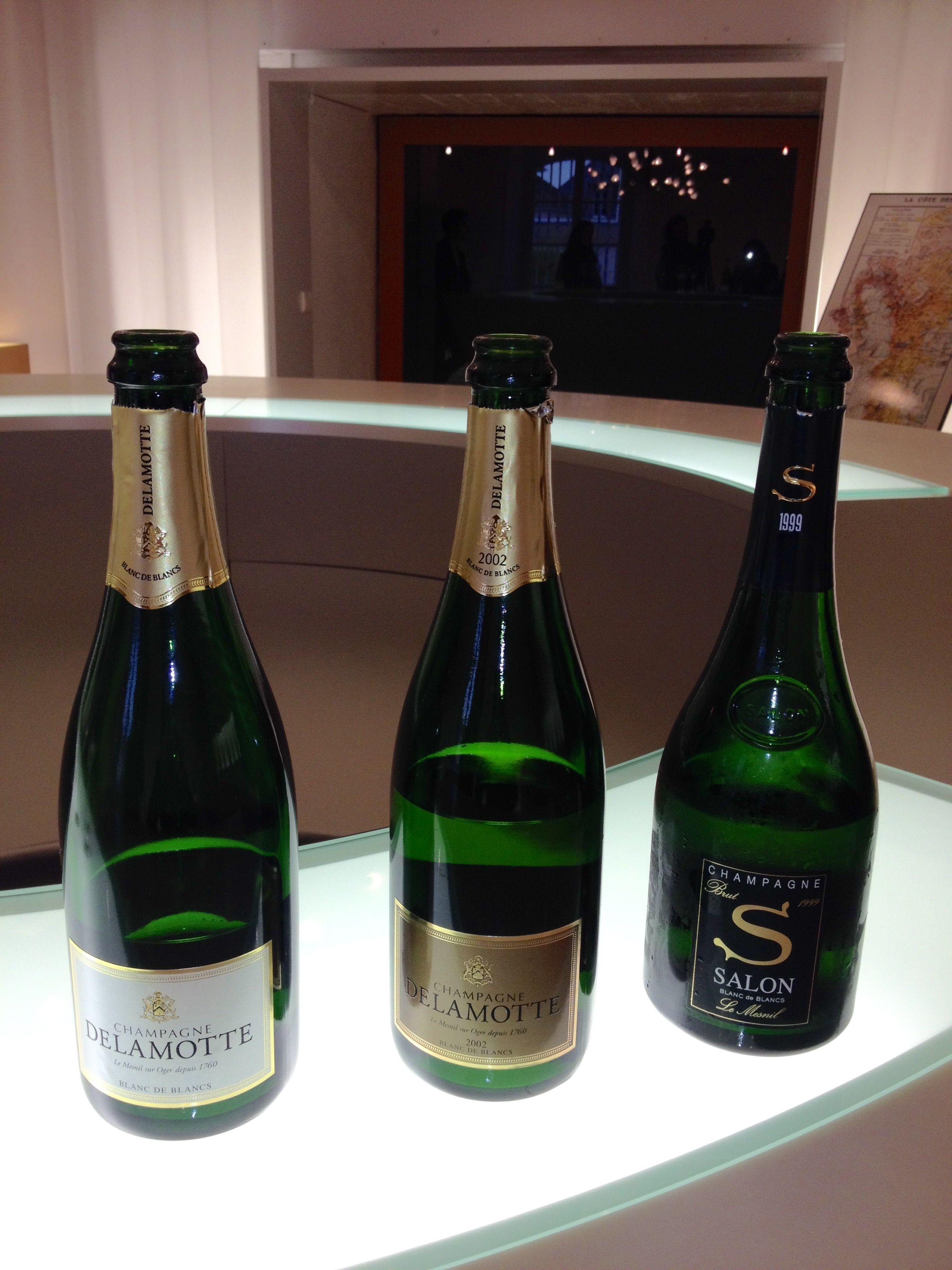 Champagne Delamotte Brut, Champagne Delamotte Blanc de blancs ...