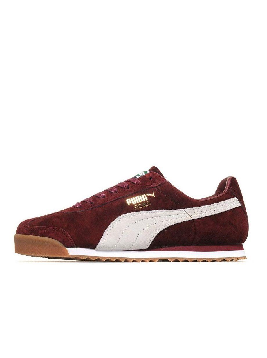 124128f8fa Puma Roma: Burgundy/White | Sneakers: Puma Roma | Sneakers, Shoes ...