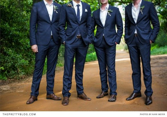 Navy Groomsmen Suits Instead Of Black A Subtle Way To Match The Your Marine In His Dress Blues