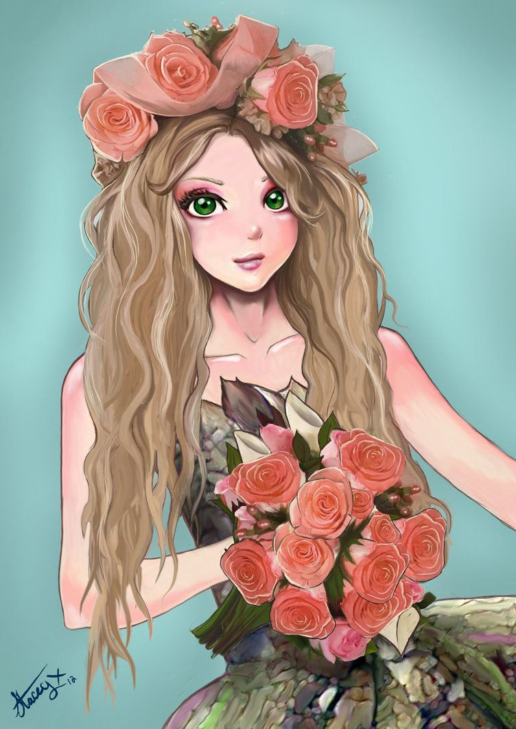 Flower Girl by lAffinityl on DeviantArt Draw Something