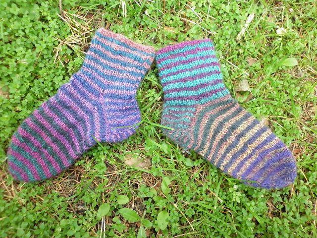 Little girls striped socks.