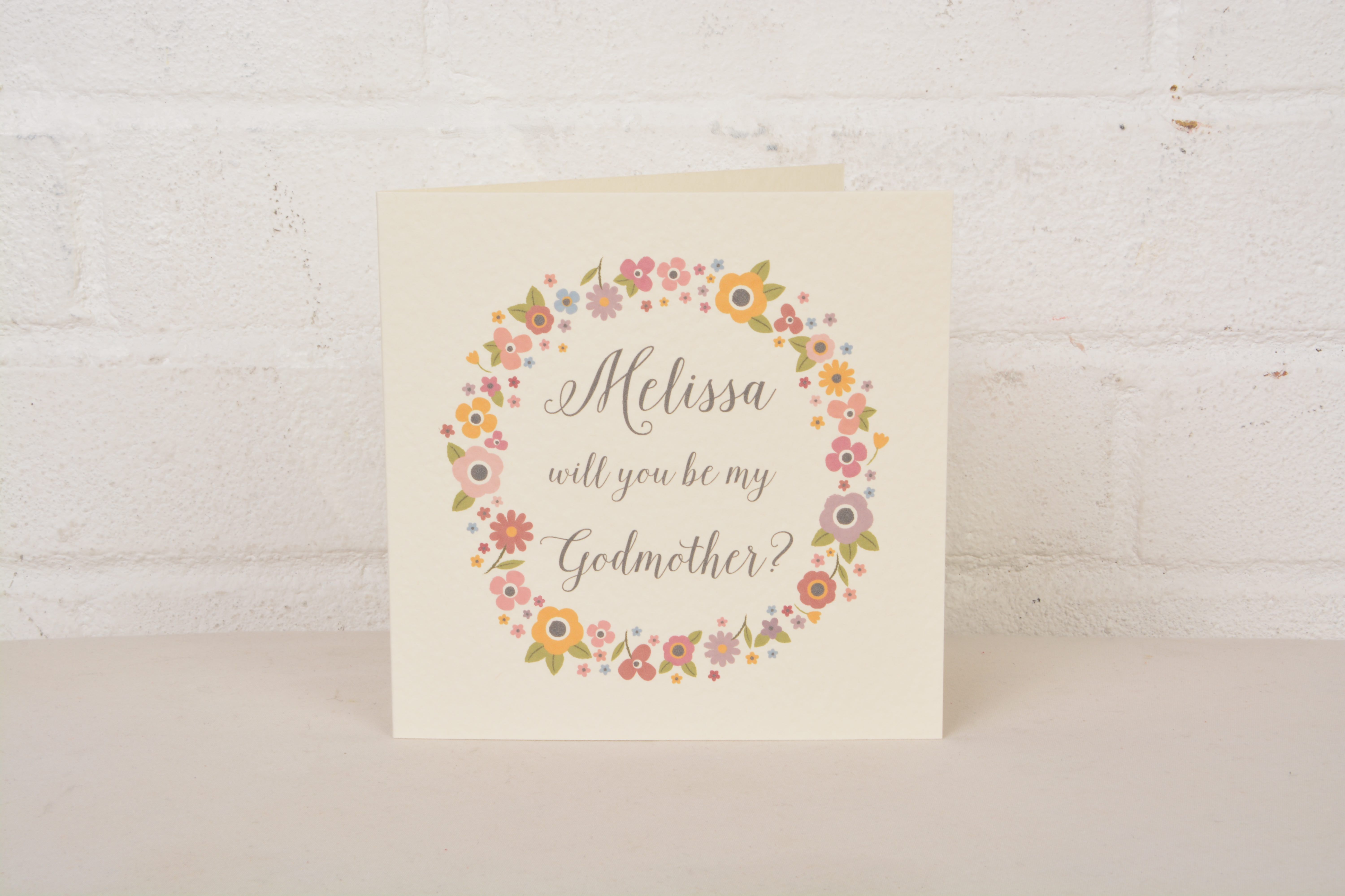 Personalised will you be my godmother card personalised greeting personalised will you be my godmother card m4hsunfo