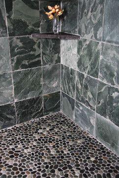 Pebble Stone Floors In Bathroom